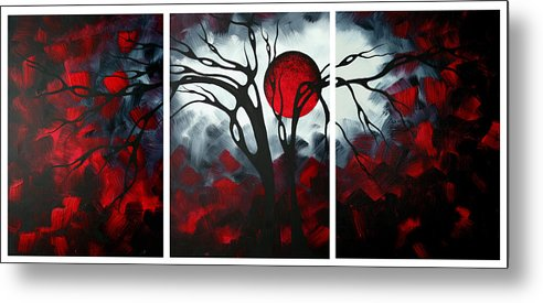 Abstract Metal Print featuring the painting Abstract Gothic Art Original Landscape Painting Imagine By Madart by Megan Duncanson