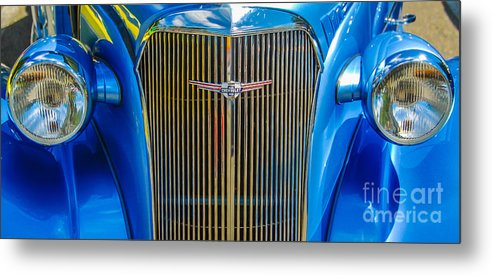 Chevy Metal Print featuring the photograph Chevy Blue by Ken Andersen