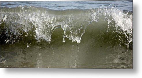 Rolling Wave Crash Metal Print featuring the photograph Crash Into Me by Joel Rams