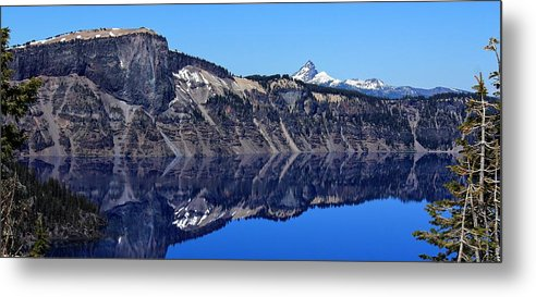 National Parks Metal Print featuring the photograph Crater Lake by Ron Latimer