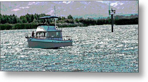 Sacramento River Delta Metal Print featuring the photograph Days End by Joseph Coulombe