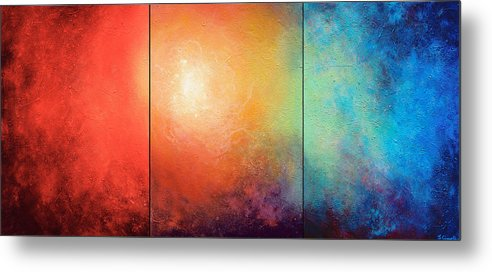 Abstract Metal Print featuring the painting One Verse by Jaison Cianelli