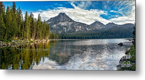 Wallowa Mountains Metal Print featuring the photograph Panoramic Of Anthony Lake by Robert Bales