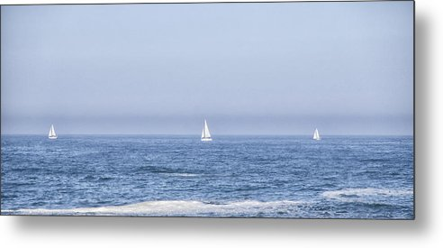 Water Metal Print featuring the photograph Sailboats by Paulo Goncalves