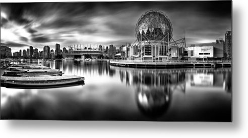 Vancouver Metal Print featuring the photograph Silver-plated Vancouver by Alexis Birkill