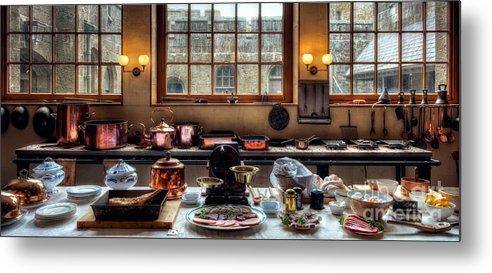 Victorian Kitchen Metal Print featuring the photograph Victorian Kitchen by Adrian Evans