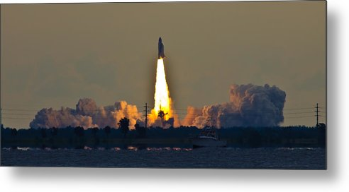 Endeavor Metal Print featuring the photograph Endeavor Blast Off by Dorothy Cunningham
