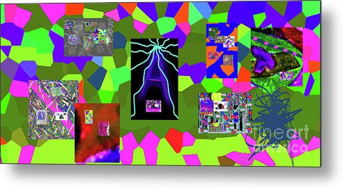 Walter Paul Bebirian Metal Print featuring the digital art 1-3-2016da by Walter Paul Bebirian