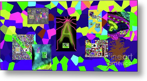 Walter Paul Bebirian Metal Print featuring the digital art 1-3-2016dabcdefghijklmnopqrtu by Walter Paul Bebirian