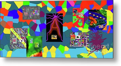 Walter Paul Bebirian Metal Print featuring the digital art 1-3-2016dabcdefghijklmnopqrtuvwxyza by Walter Paul Bebirian