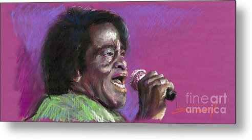 Jazz Metal Print featuring the painting Jazz. James Brown. by Yuriy Shevchuk