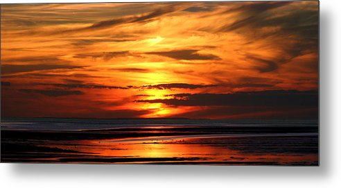 Seascape Metal Print featuring the photograph Fire Sky by Sam Smyth