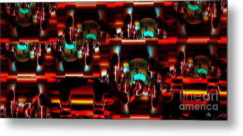 Abstract Metal Print featuring the photograph Inner Workings by Ron Bissett