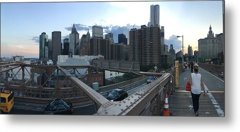 Metal Print featuring the photograph NYC by Ashley Torres