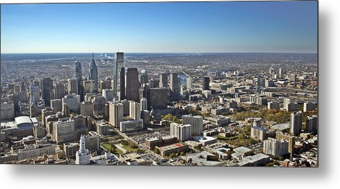 Philadelphia Metal Print featuring the photograph Philadelphia From North To South by Duncan Pearson