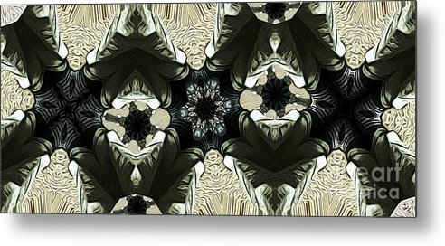 Abstract Metal Print featuring the digital art Sandals by Ron Bissett