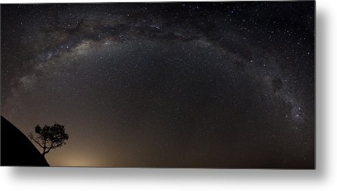 Panorama Metal Print featuring the photograph Alone In The Universe by Francois Loubser
