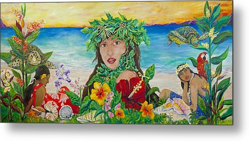 Hawaii Metal Print featuring the painting Silent Beauty by Cheryl Ehlers