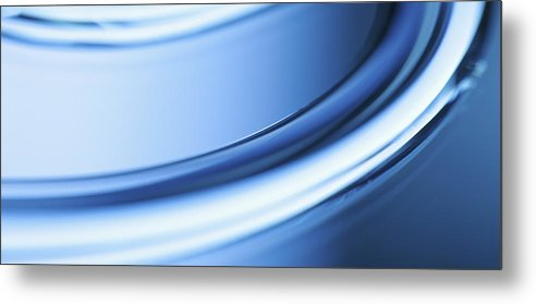 Horizontal Metal Print featuring the photograph Abstract Colored Forms And Light by Ralf Hiemisch