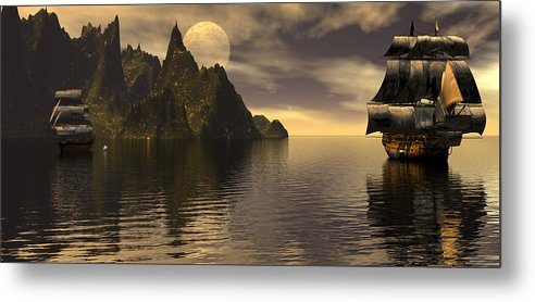 Bryce Metal Print featuring the digital art Getting The Range by Claude McCoy
