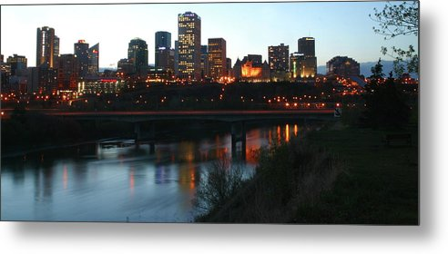 Skyline Metal Print featuring the photograph Edmonton Skyline by Jack Dagley