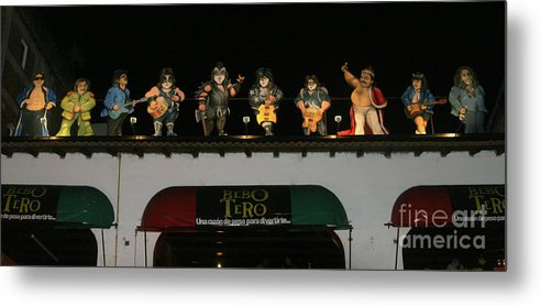 Mexico Metal Print featuring the photograph Night Club Bebotero by Chuck Kuhn