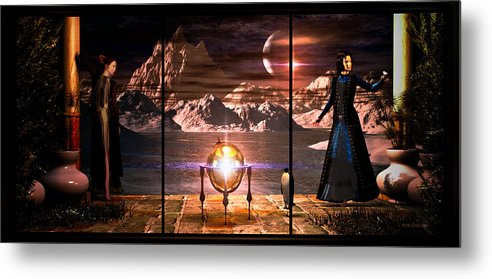 Dream Metal Print featuring the digital art Penquin Magic by Bob Orsillo