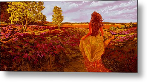 Flowers Metal Print featuring the painting Susan's World by Hans Neuhart