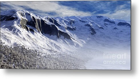 Mountains Metal Print featuring the digital art Tranquility by Richard Rizzo