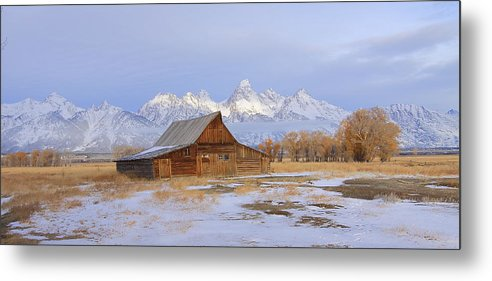 Grand Tetons National Park Metal Print featuring the photograph Moulton Barn by Floyd Tillery