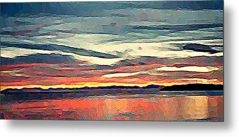 Davis Bay Metal Print featuring the photograph Davis Bay Sunset by Stanley Funk