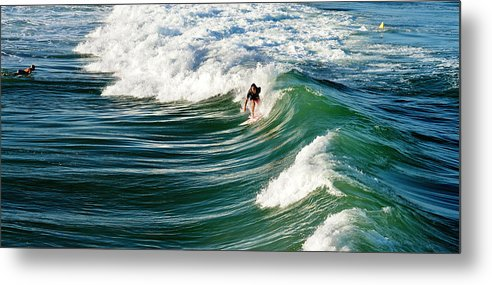 Wave Metal Print featuring the photograph Tropical Wave by Laura Fasulo