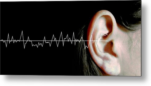Woman Metal Print featuring the photograph Hearing by Neal Grundy