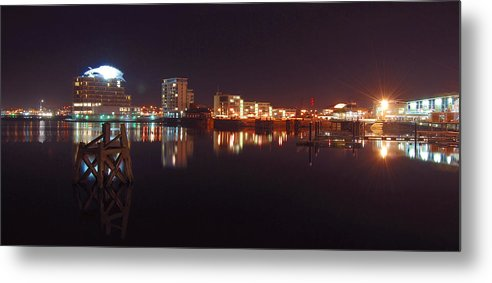 Landscape Metal Print featuring the photograph Cardiff Bay Wales by Jenny Potter