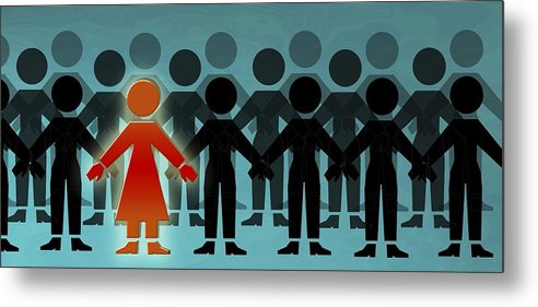 Crowd Metal Print featuring the photograph Male Dominated Society, Artwork by Christian Darkin