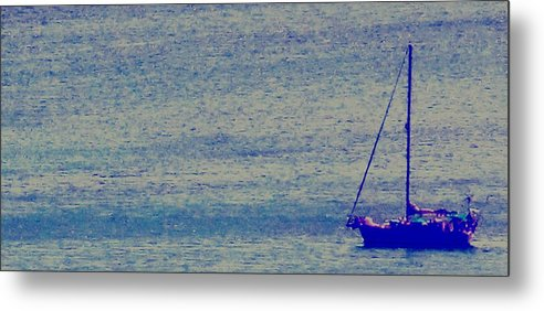 Boat Metal Print featuring the photograph At Evening Anchor by Ian MacDonald