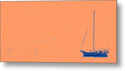 Boat Metal Print featuring the photograph Boat On An Orange Sea by Ian MacDonald