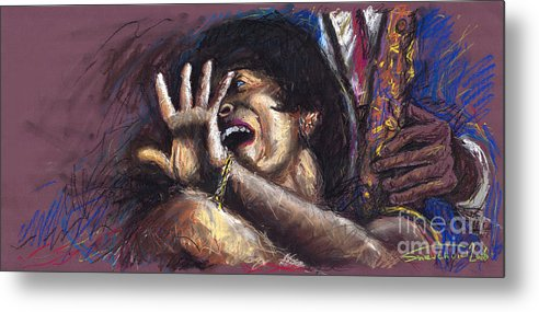 Jazz Metal Print featuring the painting Jazz Song 1 by Yuriy Shevchuk