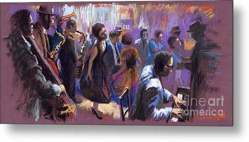 Jazz.pastel Metal Print featuring the painting Jazz by Yuriy Shevchuk