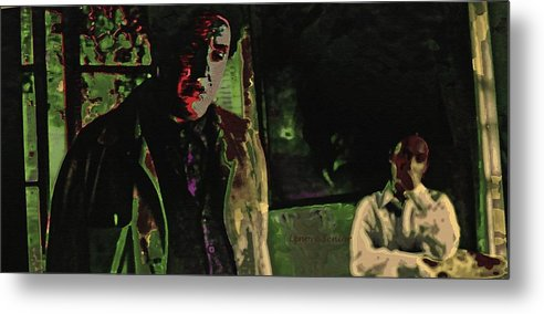 Expressive Metal Print featuring the photograph My Version Of The Movie 3 by Lenore Senior