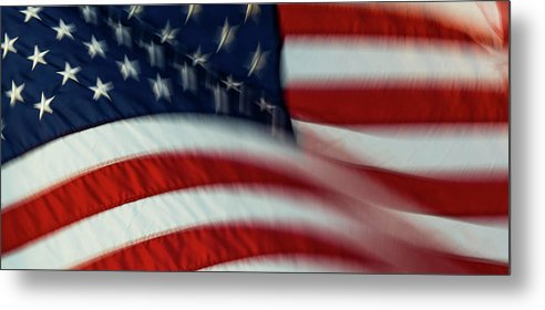 Flags Metal Print featuring the photograph United by Nicole Griggs