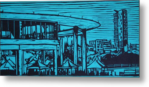 Long Center Metal Print featuring the drawing Long Center by William Cauthern
