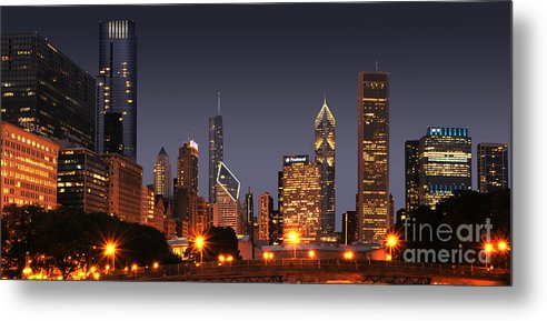 Chicago Metal Print featuring the photograph Chicago City by Jt PhotoDesign