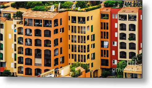 Monaco Metal Print featuring the photograph Colorful Living In Monaco by Ken Andersen