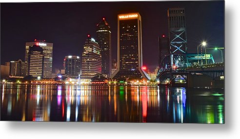 Jacksonville Metal Print featuring the photograph Jacksonville Aglow by Frozen in Time Fine Art Photography