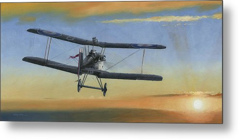 Se5a Metal Print featuring the painting Morning Serenade by Wade Meyers