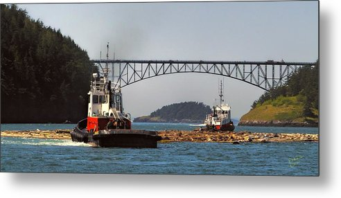 Deception Pass Metal Print featuring the photograph Moving The Logs by Rick Lawler