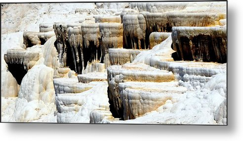 Pamukkale Metal Print featuring the photograph Pamukkale Terraces by Apurva Madia