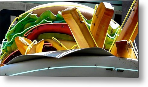 Neon Sign Metal Print featuring the photograph No Cheese Please by Jacqueline Howe