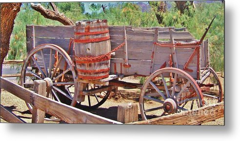 Cart Metal Print featuring the photograph The Barrell by Marilyn Diaz